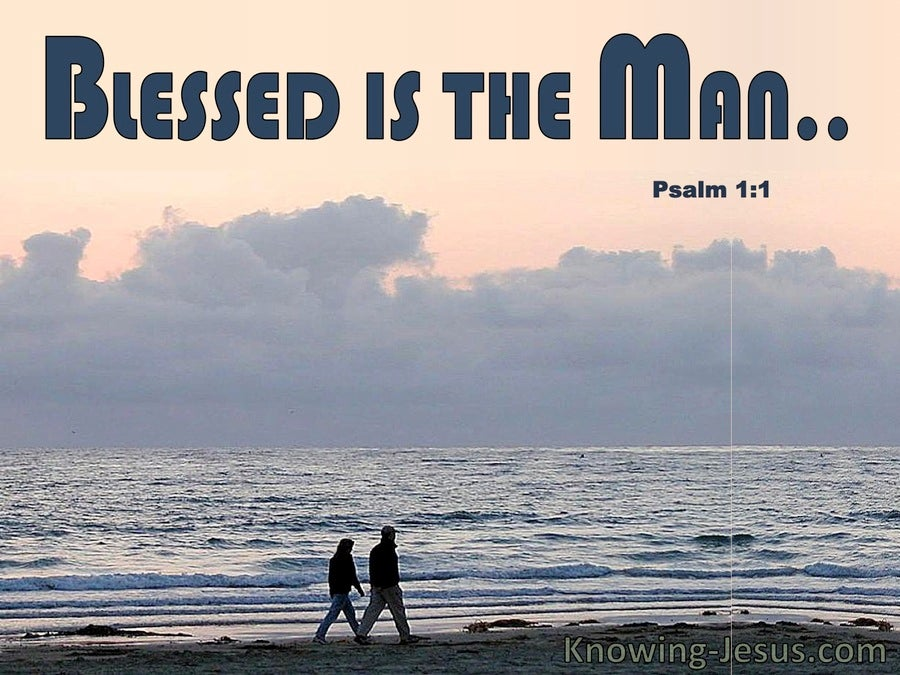 Psalm 1:1 Blessed Is The Man (gray)