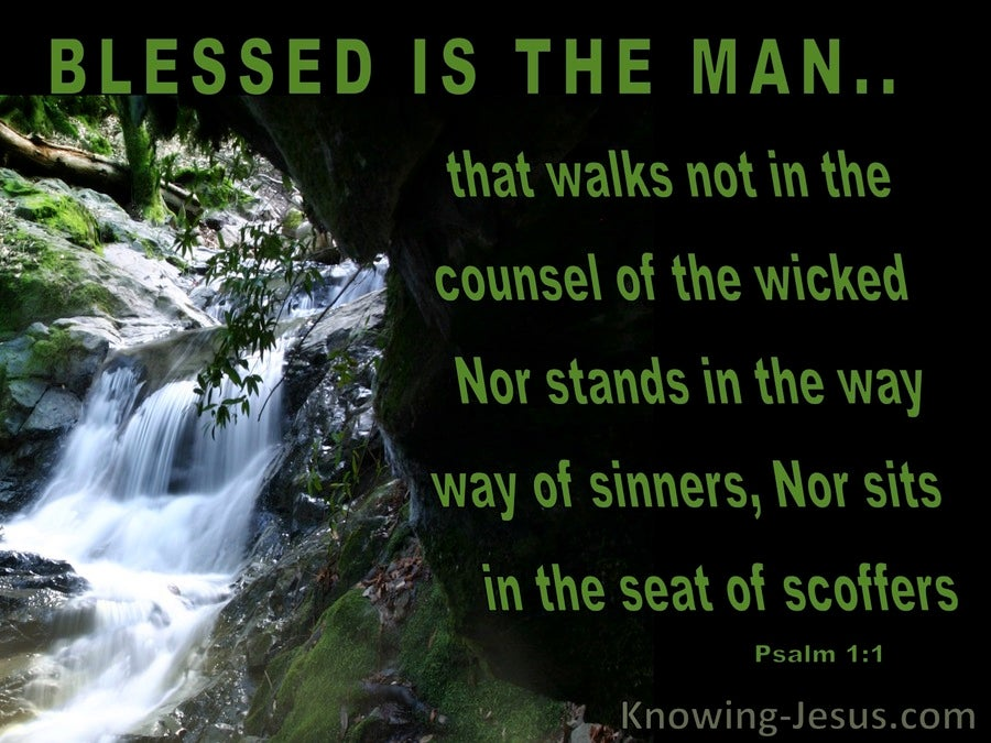 Psalm 1:1 Blessed Is The Man (green)