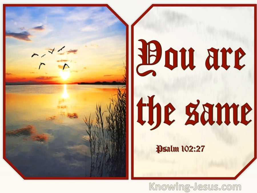 Psalm 102:27 You Are The Same Your Years Do Not Come To An End (red)