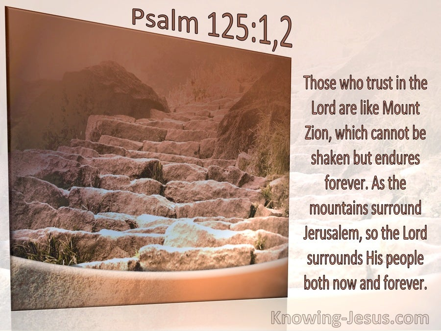 Psalm 125:1 and 2 As The Mountains Surround Jerusalem So The Lord Surrounds His People (windows)07-13