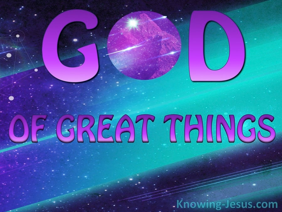 God Of Great Things (devotional) (purple) - Psalm 126:3
