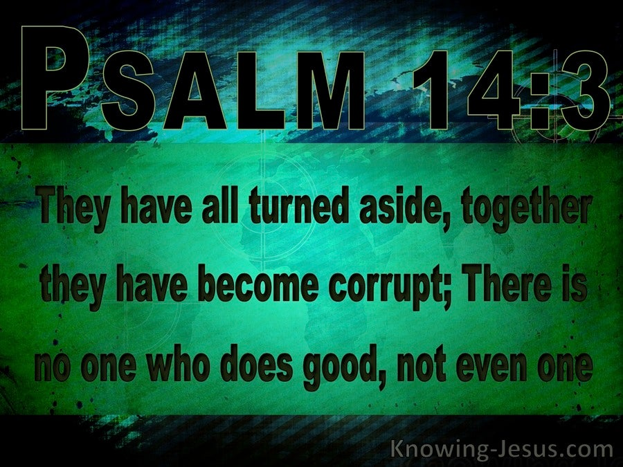 Psalm 14:3 There Is None Good : No Not One (black)