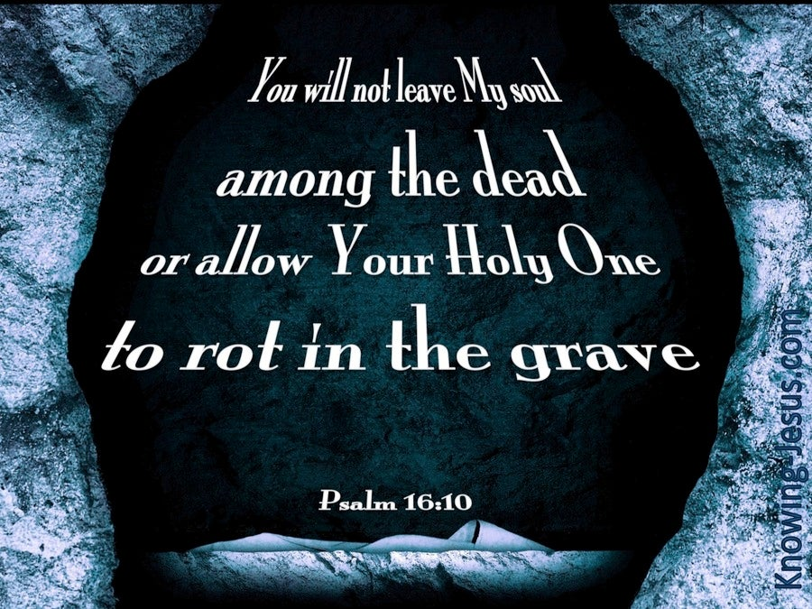 Psalm 16:10 You Will Not Abandon Me (blue)