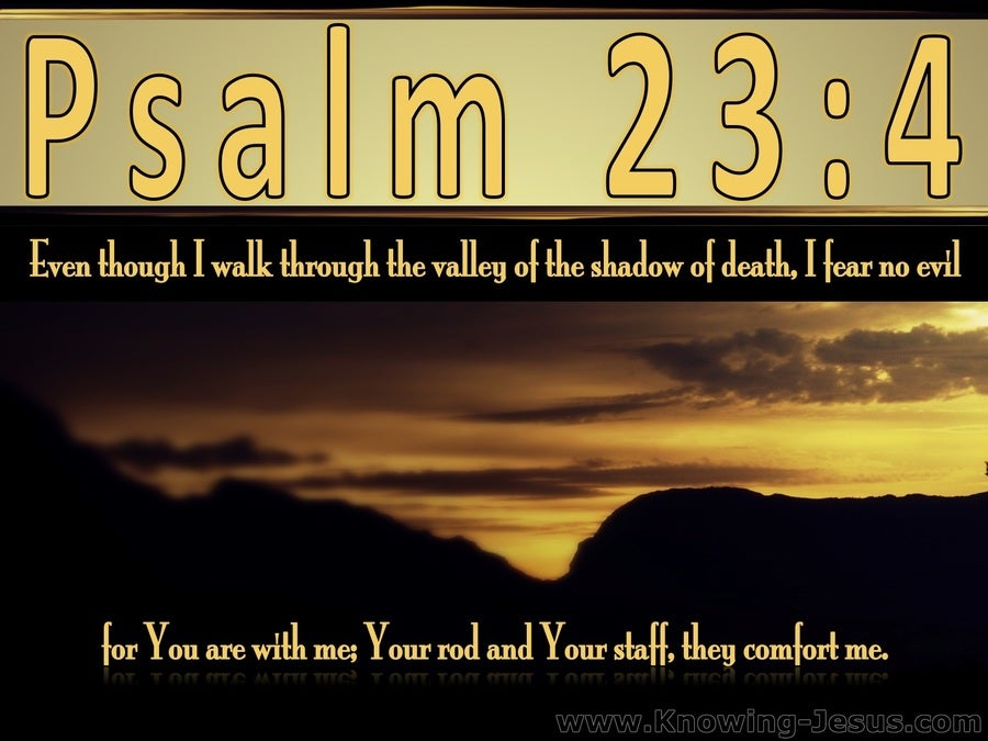 Psalm 23:4 The Valley Of The Shadow of Death (yellow)