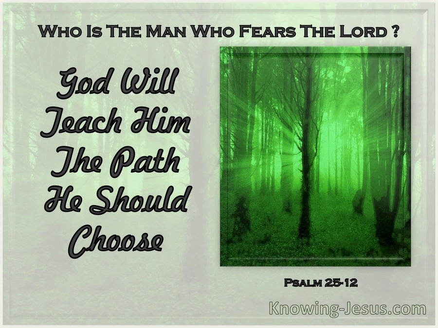 Psalm 25:12 What Man Is He That Fears The Lord (sage)