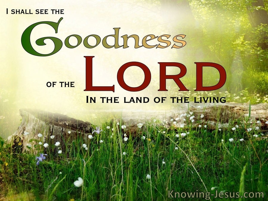Psalm 27:13 Goodness Of The Lord (green)