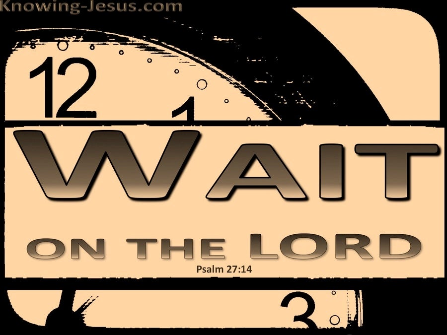 Psalm 27:14 Wait On The Lord (orange)