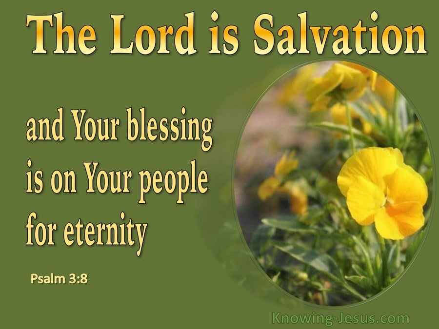 Psalm 3:8 The Lord Is Salvation (green)