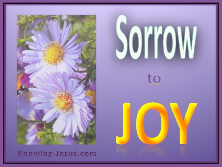 Psalm 30:5 Sorrow to Joy (devotional) (yellow)