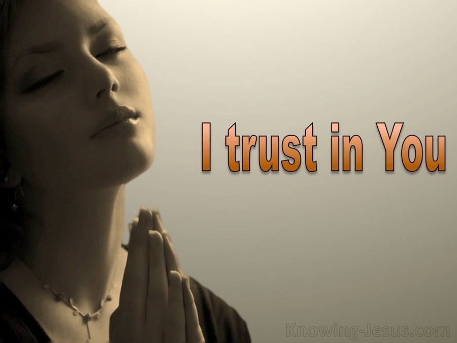 Psalm 31:14 But I Trust in You O Lord (beige)