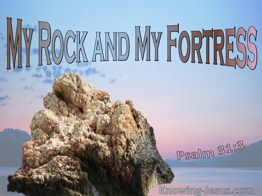 Psalm 31:3 You Are My Rock And Fortress (pink)