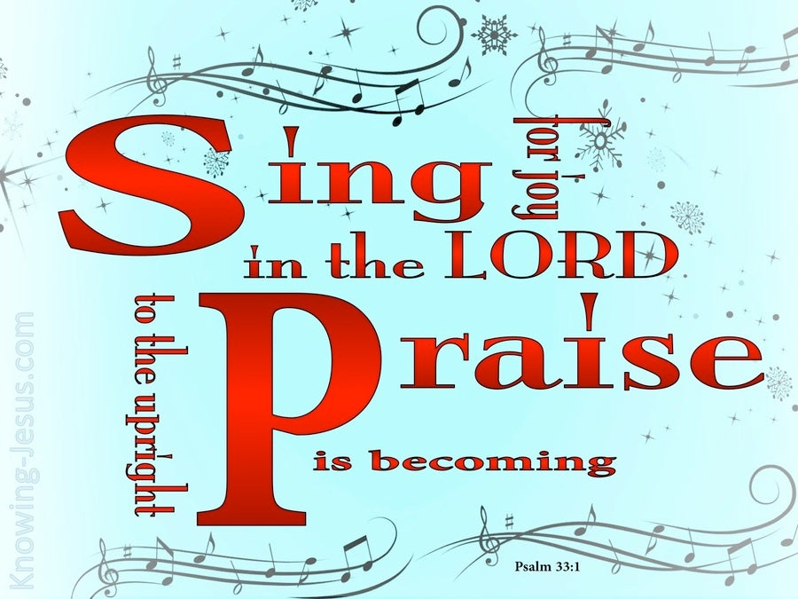 Psalm 33:1 Sing Joyfully To The Lord (red)