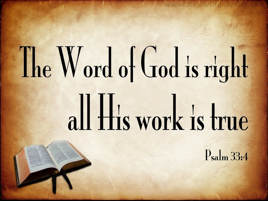 Psalm 33:4 The Word Of God Is True (beige)