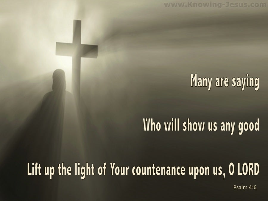 Psalm 4:6 Lift Up The Light Of Your Countenance (beige)
