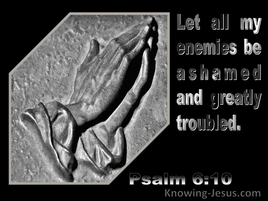 Psalm 6:10 Let My Enemies Be Ashamed And Troubled (silver)