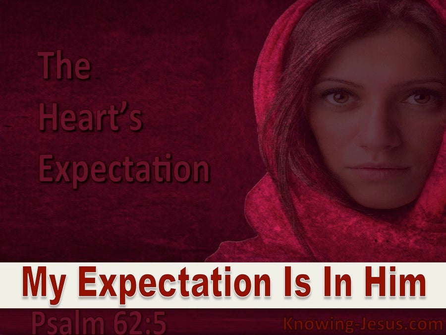 The Heart's Expectation (devotional) (maroon) - Psalm 62:5