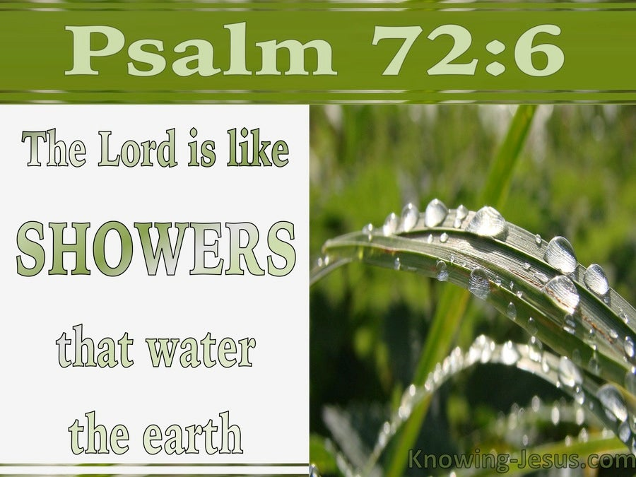 Psalm 72:6 He Is Like The Dew On The Mown Grass (white)