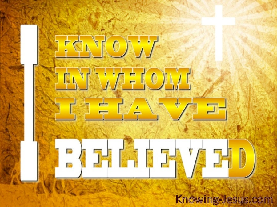 2 Timothy 1:12 God's Secret Hand (devotional)08:10 (yellow)