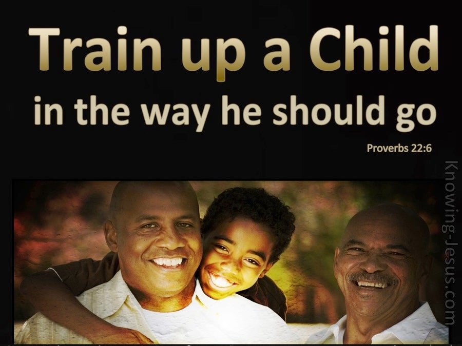 Proverbs 22:6 Train Up A Child (brown)