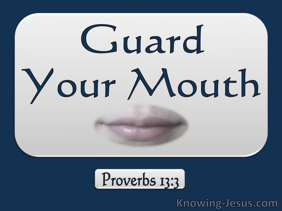 Proverbs 13:3 Guard Your Mouth (blue)
