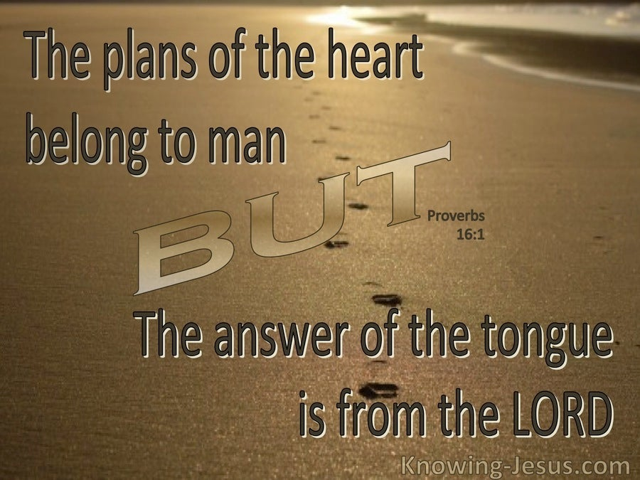 Proverbs 16:1 The Plans Of A Man (brown)