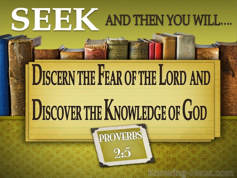Proverbs 2:5 Discern The Fear Of The Lord (sage)