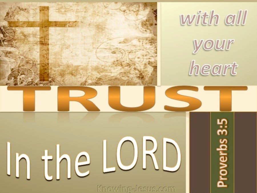 Proverbs 3:5 Trust In The Lord With All Your Heart (beige)
