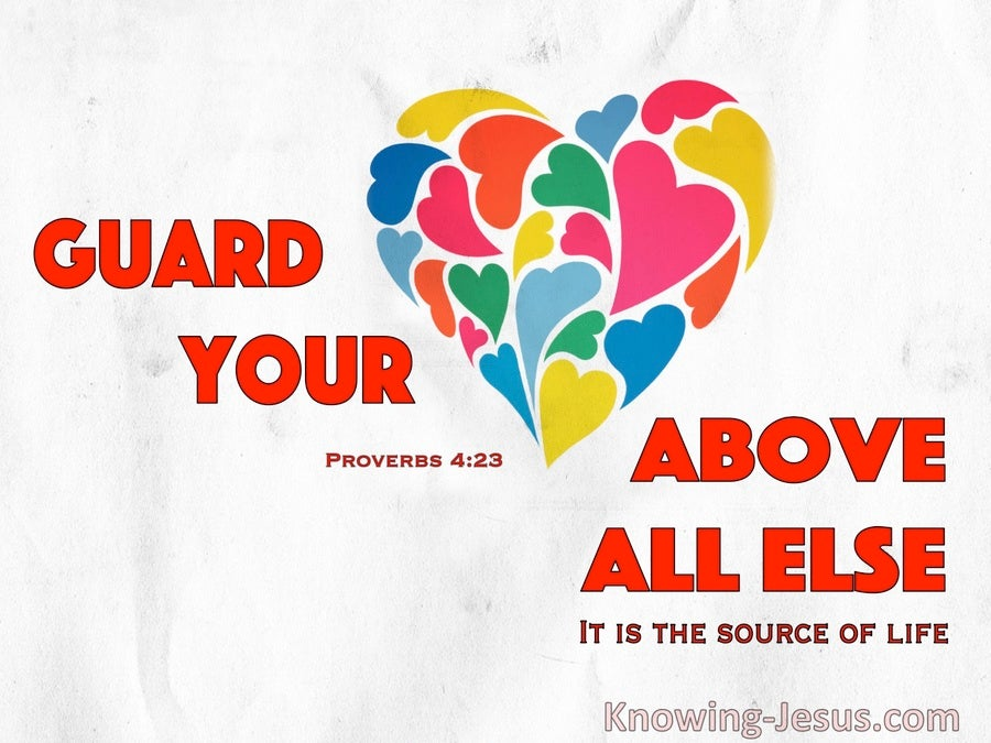 Proverbs 4:23 Guard Your Heart Above All Things (red)