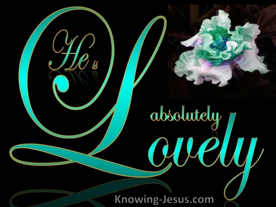 Song of Solomon 5-16 Absolutely Lovely (green)