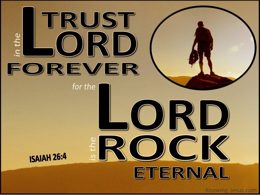 Isaiah 26:4 Trust in the Lord Forever (brown)