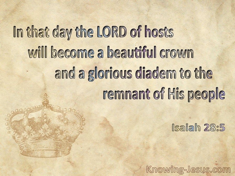 Isaiah 28:5 The Lord Will Become A Beautiful Crown (beige)