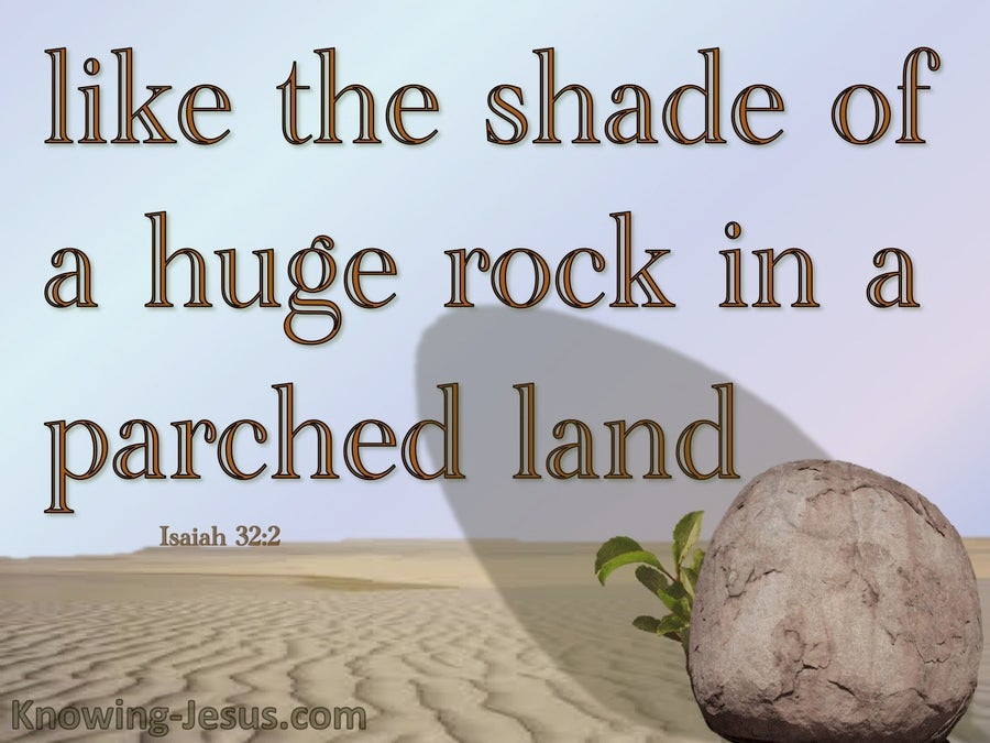 Isaiah 32:2 Shade Of A Rock In A Parched Land (brown)