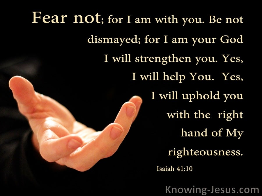 Isaiah 41:10 Fear Not I Will Be With You (black)