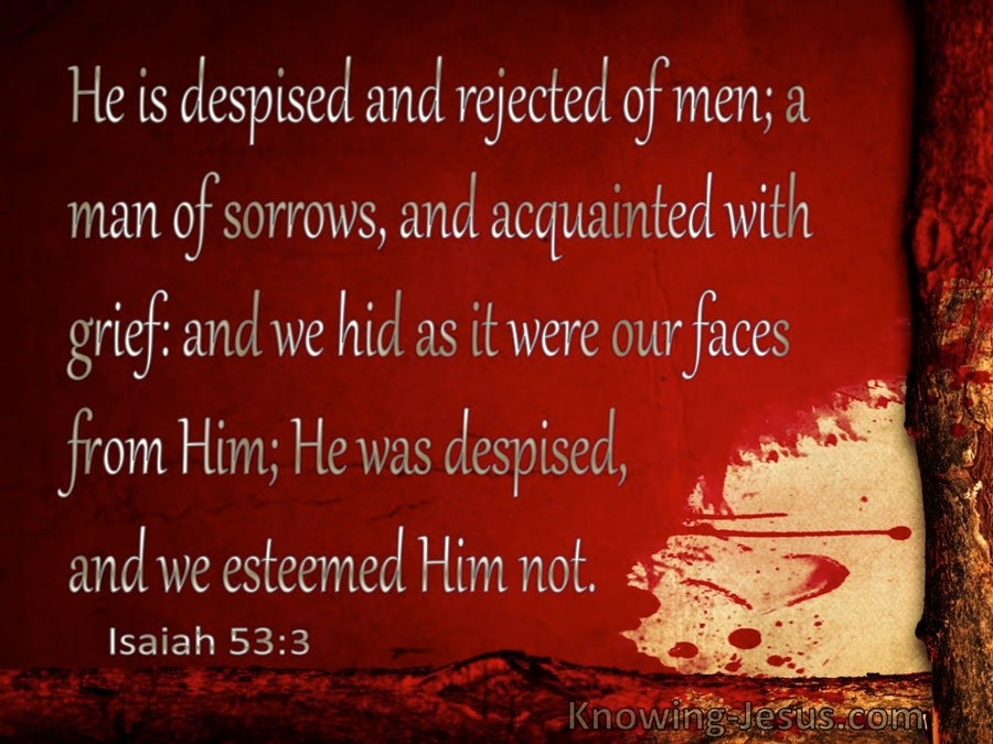 Isaiah 53 3 Despised And Rejected Of Men Red
