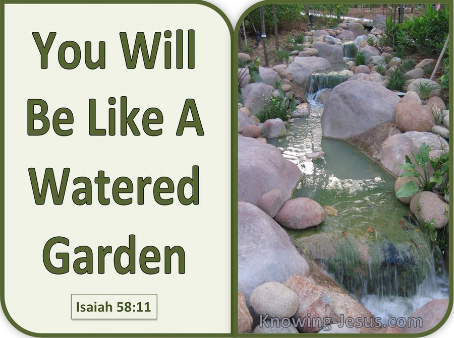 Image result for Isaiah 58:11-12