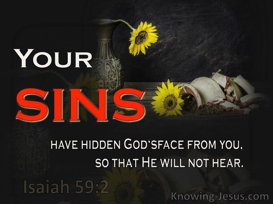 Isaiah 59:2 Your Sin Has Hidden God's Face From You (yellow)