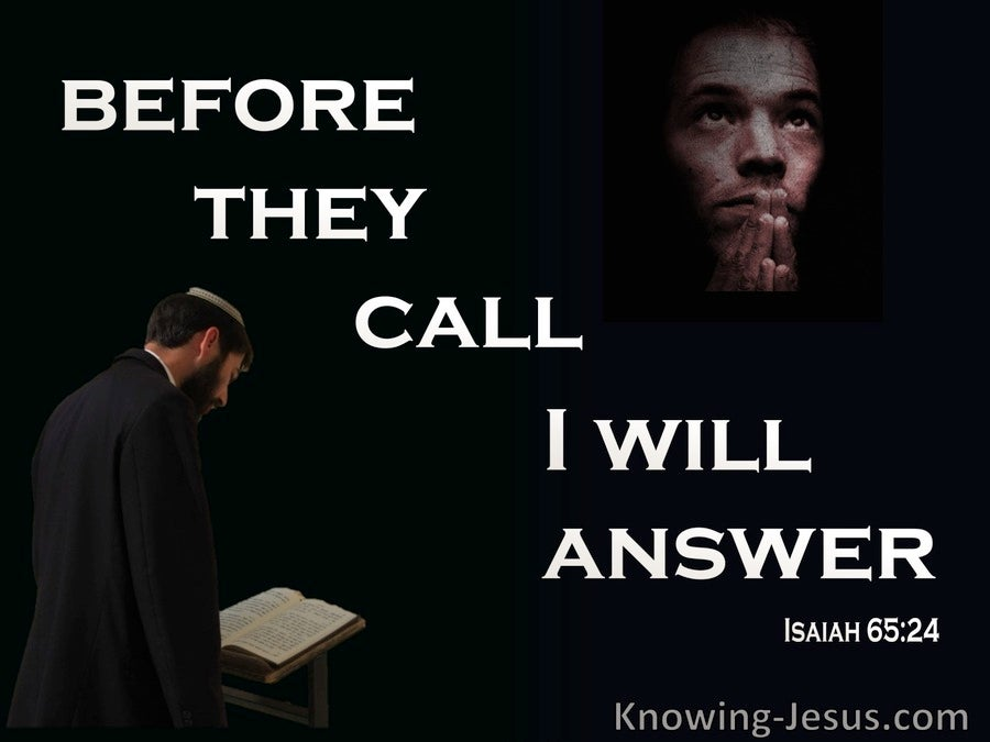 Isaiah 65:24 Before They Call I WIll Answer (beige)