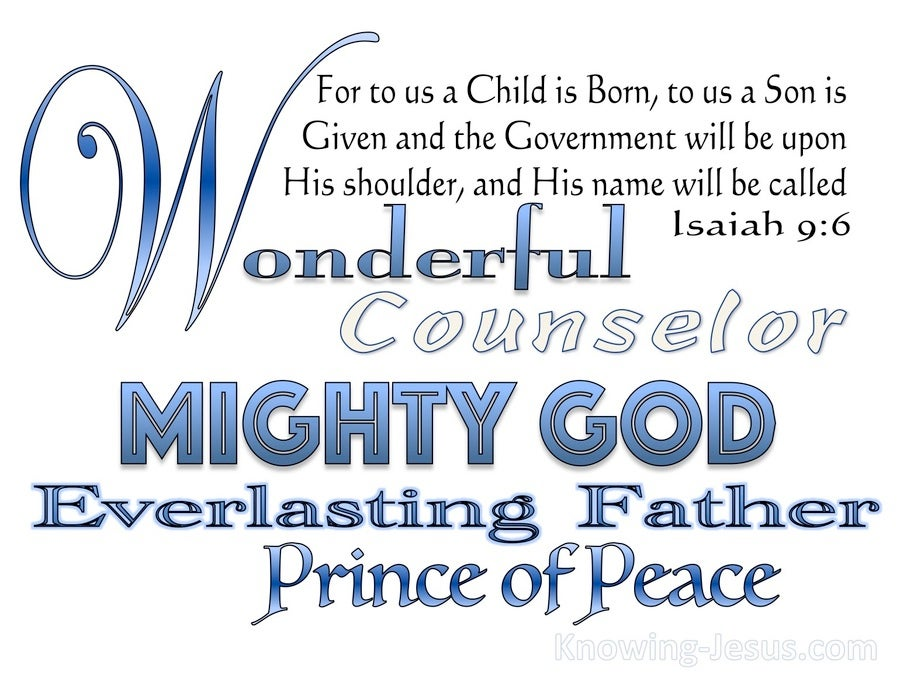 Isaiah 9:6 Unto Us A Child Is Born (white)