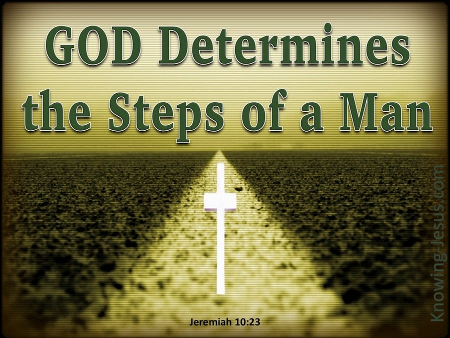 Jeremiah 10:23 The Way Of A Man (green)