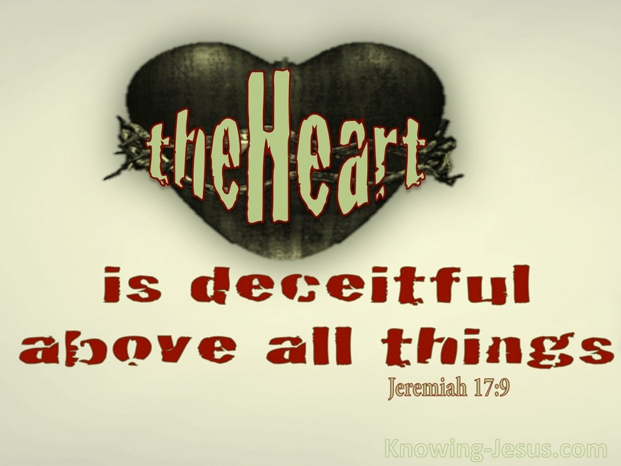 Image result for deceitful heart