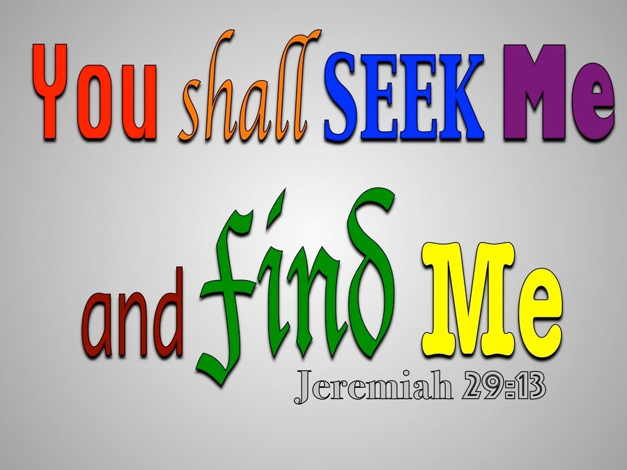Jeremiah 29:13 You Shall Seek Me And Find Me (gray)