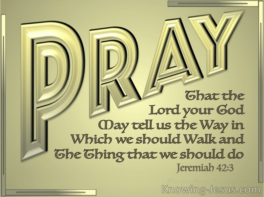 Jeremiah 42:3 That The Lord May Tell Us The Way In Which We Should Walk (gold)