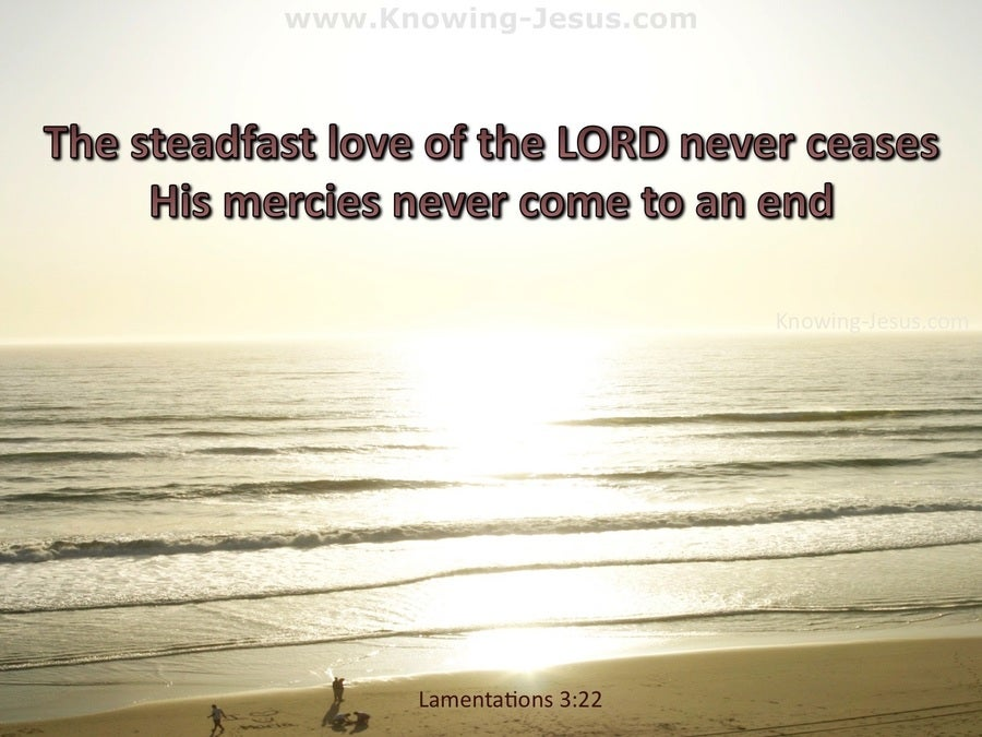 Lamentations 3:22 The Steadfast Love Of The Lord Never Fails (beige)