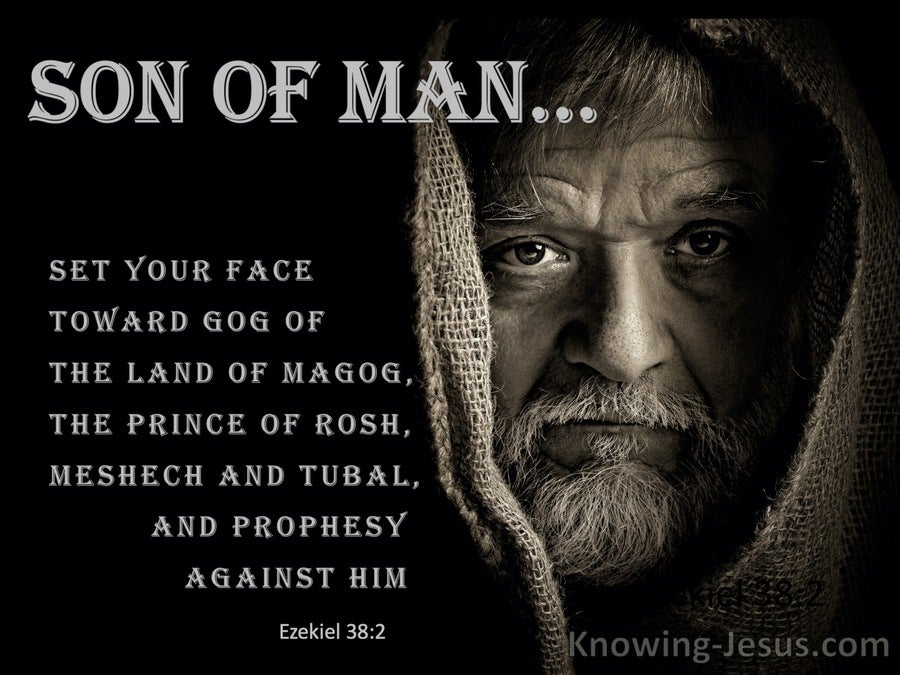 Ezekiel 38:2 Set Your Face Toward Gog Of The Land Of Magog (black)