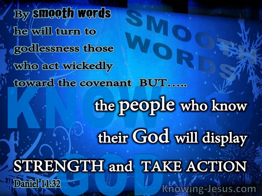 Daniel 11:32 The People Who Know God Will Display Strength (blue)