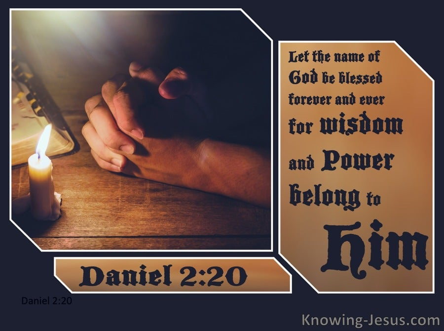 Daniel 2:20 Let The Name Of God Be Blessed Forever (brown)