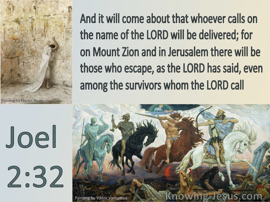 Joel  2-32 Whoever Calls On The Name Of The Lord (gray)