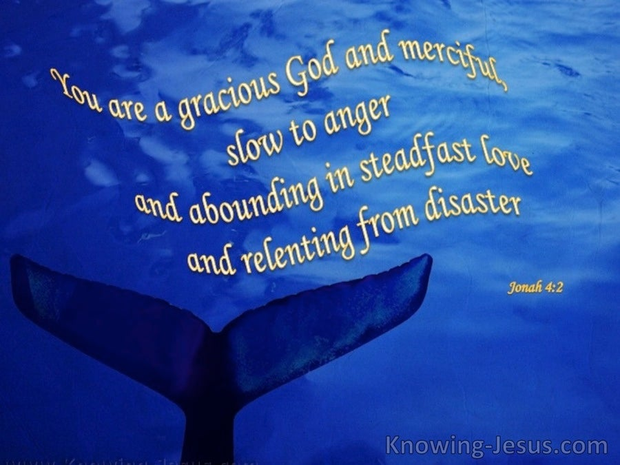 Jonah 4:2 God is Gracious (blue)