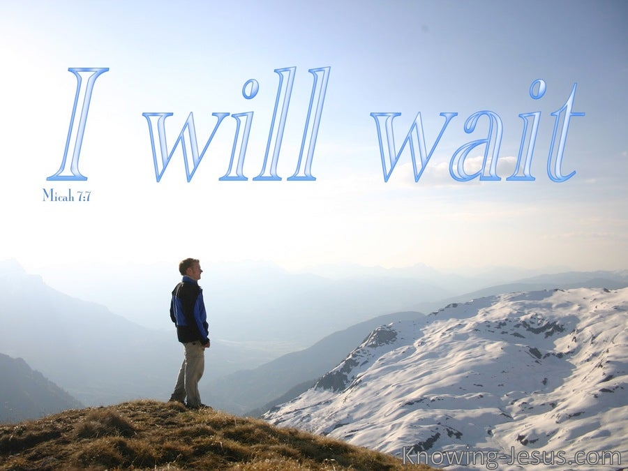 Micah 7:7 Wait For The Lord (blue)