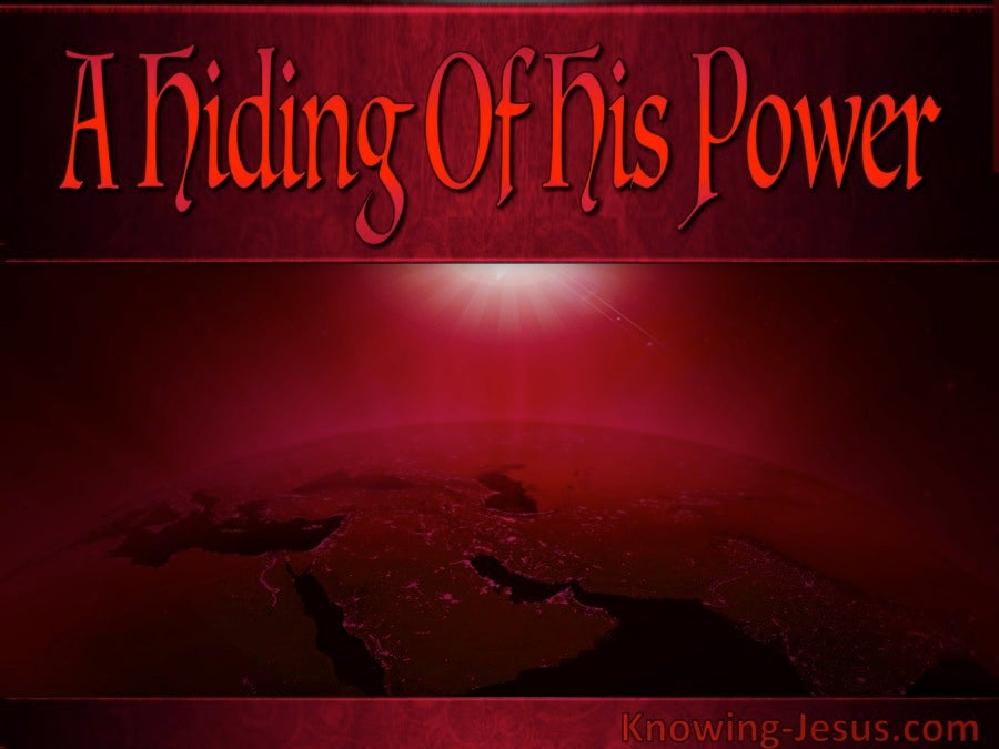 A Hiding Of His Power (devotional) (red) - Habakkuk 3:4